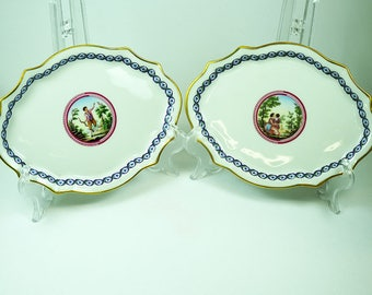 Richard Ginori Plates with Classical Decoration
