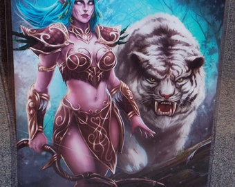 World Of Warcraft Tyrande Whisperwind Glossy Art Print 11 x 17 In Hard Plastic Sleeve