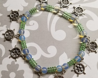 SHIP WHEELS stretchy beaded bracelet ALL for Charity
