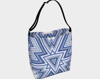 Santa Fe Blue - Tote bag, travel bag, carry-all, shopping bag, handbag, southwest design, overnight bag