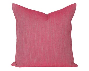Linen Canvas Fuchsia designer pillow covers - Made to Order - Robert Allen