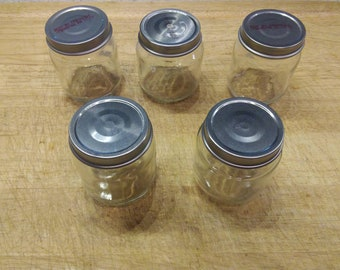 12 glass baby food jars, glass jars, 4 oz glass jars
