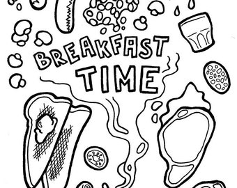 breakfast time coloring pages - photo#11