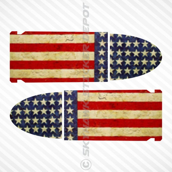 American Flag 9mm Bullet Decal Sticker Set Vinyl Decal Macbook