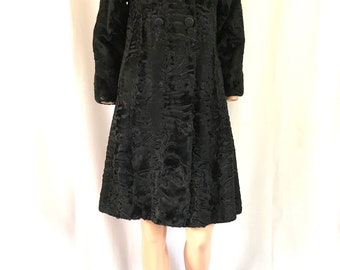 1960's Persian Lamb Empire Waist Coat sz. S/M