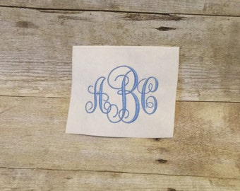 Intertwined Embroidery Font, Intertwined Monogram Font