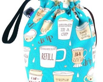 Sock Bag - Small Knitting Crochet Project Bag - Creative Fuel