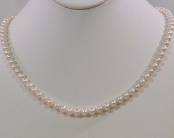 Simple Natural Freshwater Pearl Necklace