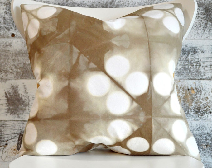 Contemporary Shibori Pillow Cover 18x18 inches - Wild Mushroom