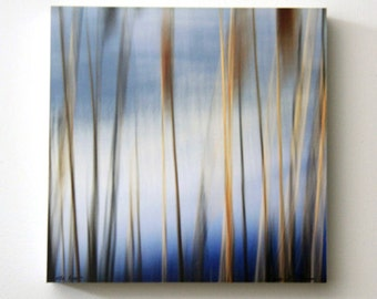 Brown and Blue, Abstract Photography, Beach Decor, Modern Art, Wall Decor, Square Wall Art