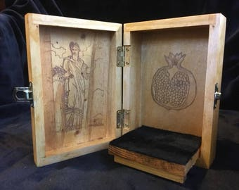 Persephone Portable Travel Altar Box