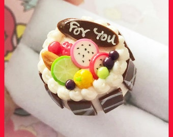Miniature fruit & cream cake ring