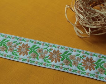 007# Vintage border with flowers, 38 mm