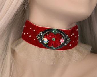 Woodland Mischief Tutu Ribbon Choker Necklace