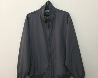 Vintage Golden Bear Jacket/Golden Bear by Jack Nicklaus Men's Zip Up Jacket/Retro/DimGray/Size L