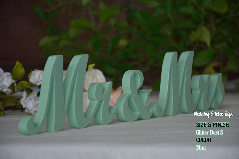 Mr mrs mint mint green wedding decorations rose gold sign zoom junglespirit Images
