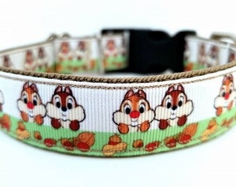 Chipmunks dog collar