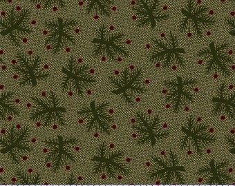 8207 0114 / Marcus Brothers / Pieceful Pines / Fabric / Pam Buda / Green