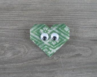Green Heart Pin // Googly Eyes // Wiggle Eyes