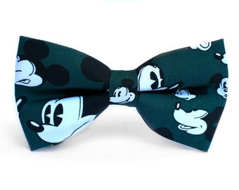 Mickey Bow Tie | Bow Tie for Men | For Him | Bowtie | Self Tie | Dog Bow Tie | Mens Bow Tie | Boys Bow Tie | Disney