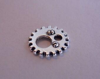pretty silver metal steampunk gear COG gear