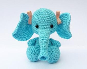 READY FOR SEND amigurumi elephant/  Crochet elephant/ crochet toy/ elephant