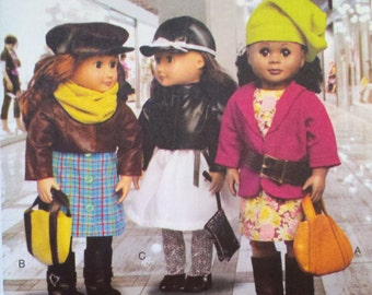 """REDUCED - 18"""" Doll Clothes - McCall's M6804 Pattern - UNCUT - See Shop Announcement for Discount Code"""