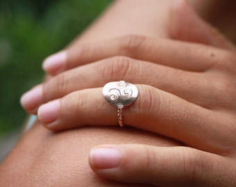 Pinky Ring - 'Balinese Royalty', small ring, knuckle ring, pinky ring women, silver ring, sterling silver ring, womens ring