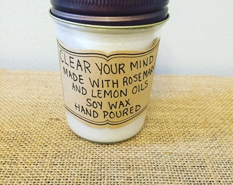 Clear Your Mind Soy Wax Candle