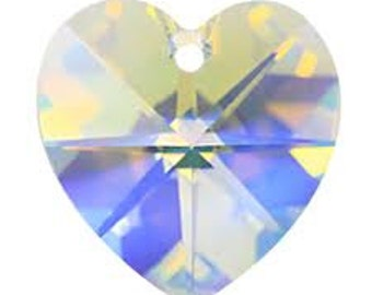Swarovski 6228 18mm Heart - Crystal AB