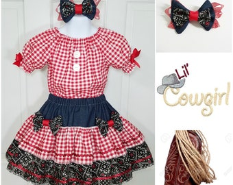 Cowgirl Costume, Western Outfit,  Rodeo Outfit, Cowgirl Birthday, Western Birthday, Western Pageant, Semi Glitz Cowgirl, Semi Glitz Western