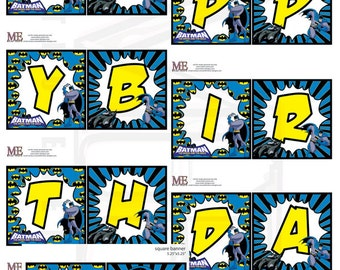 Batman Banner, Batman Bunting, Batman Birthday Banner, Super Hero Banner, Super Hero Bunting, Superhero Party, Batman Birthday
