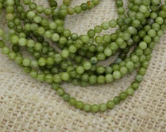 30 jade beads 6mm round