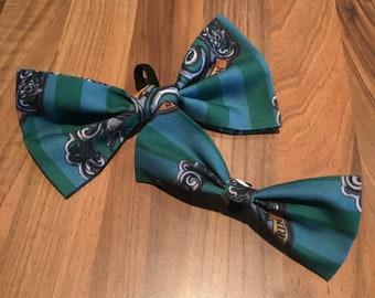 Slytherin Harry Potter dog bow tie