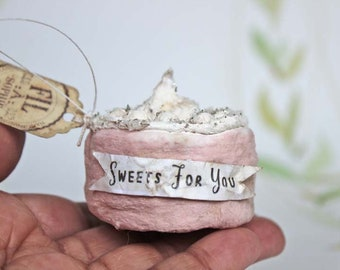 Gâteau miniature gâteau nostalgique Noël ornements figure ornement spun coton