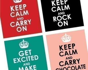 Quotes and Sayings-Keep Calm and Chill Out -Scrabble Size Printable Images -Buy 2 Get 1 Free -Instant Download - .75x.83 Inch - Digital File