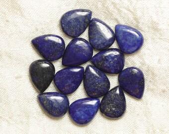 2PC - stone beads - Lapis Lazuli drops 16x12mm - 8741140017894