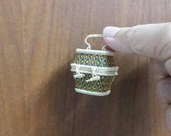 mini wicker basket from Bangkok Thailand