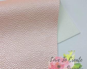 Pearl pink textured metallic fabric sheet| faux leather
