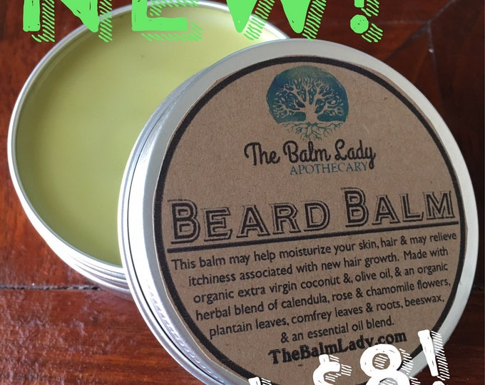 Beard Balm Conditioning, Moisturizing, Leave In Balm for Mustache, Beard, Hair. Herbal, Organic Aromatic Effective Itch Relief