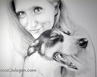 Custom Pencil Portraits, Hand Drawn Portraits , Custom Pencil Drawing, Drawing with Pencil, Drawing from Photo, Pencil Drawing, Drawings