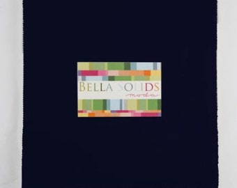 Moda Bella Solids Navy Blue 10 x 10 Inch Squares - Junior Layer Cake