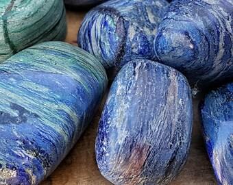Azurite Crystal Tumbled Stone -  Pocket Palm Stone 120