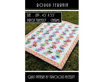 Quilt Pattern PDF Rough Terrain -- Charm Friendly