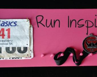 Running Medal and Bib Holder Run Inspired FREE Personalization