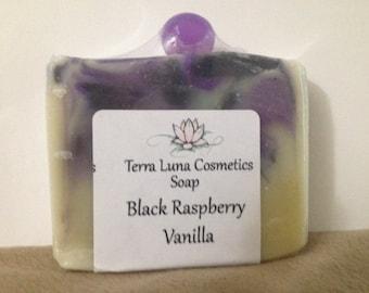 Handmade Black Raspberry Vanilla Soap