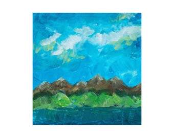 8X10 Abstract Mountains