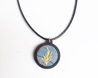 Blue Fern vegan necklace