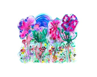 Abstract Flowers no.4 – A4 Print – 290gsm
