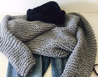 Gray Turtleneck sweater , Sweater , Oversized women knit Sweater , Slouchy Sweater , Long Sweater